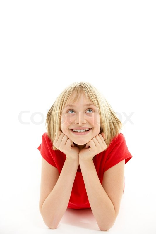 Stock image of '12 year old, pre-teen, girl'