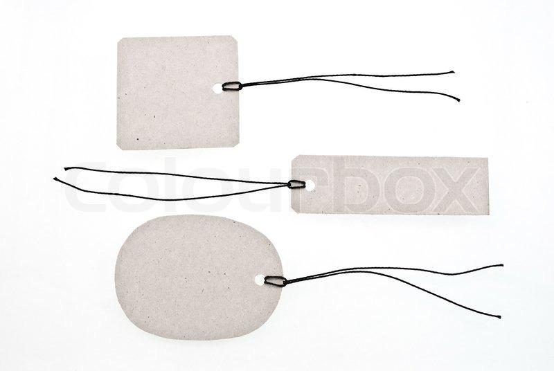 Cardboard tags, stock photo