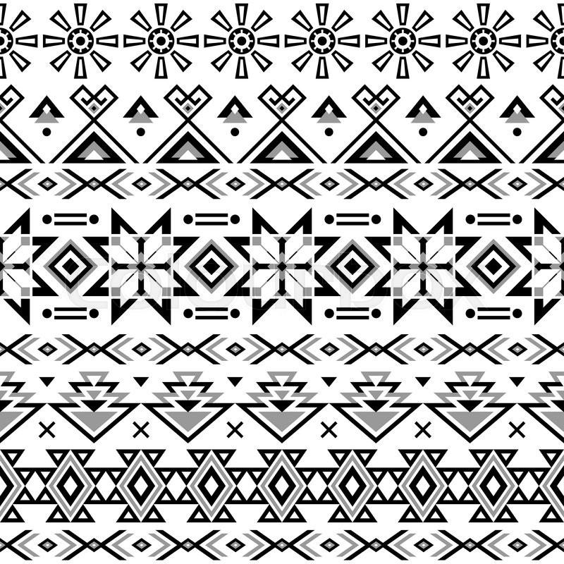 ethnic seamless pattern aztec black white background tribal ethnic navajo print modern. Black Bedroom Furniture Sets. Home Design Ideas