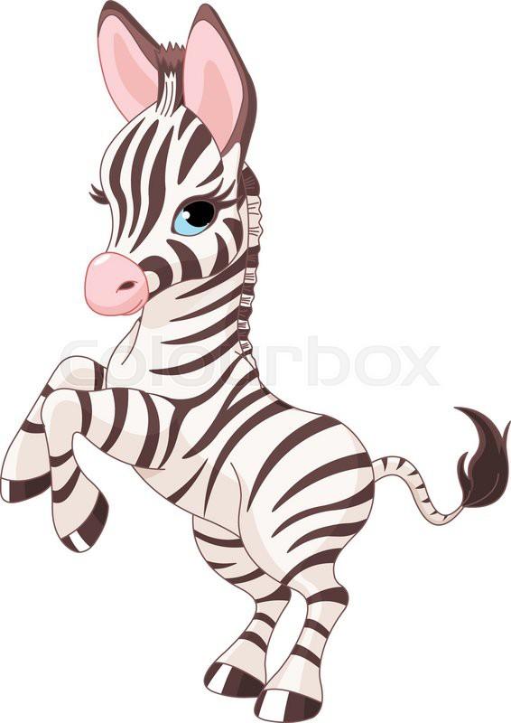 Illustration of very cute baby zebra | Stock Vector ...