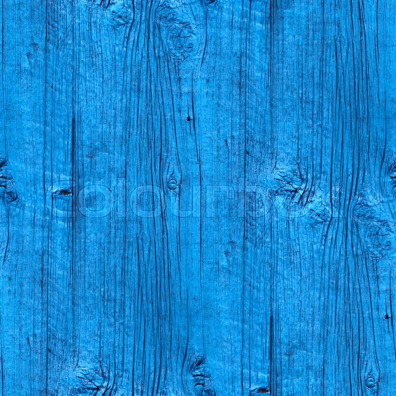 Seamless A Texture Wooden Fence Old Blue Wallpaper Art