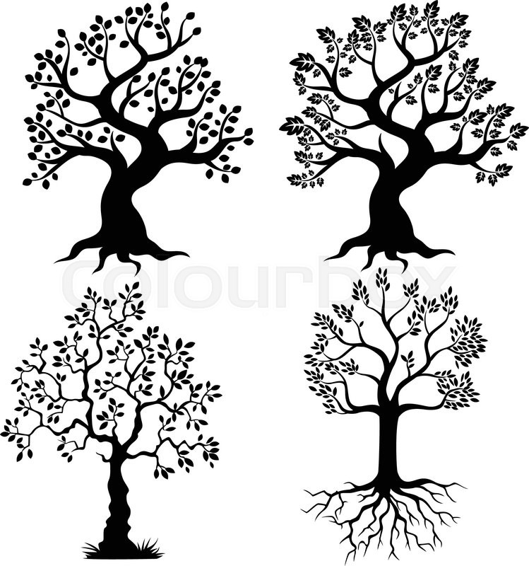 Vector Illustration Of Cartoon Tree Stock Vector Colourbox Free download and use them in in your design related work. vector illustration of cartoon tree