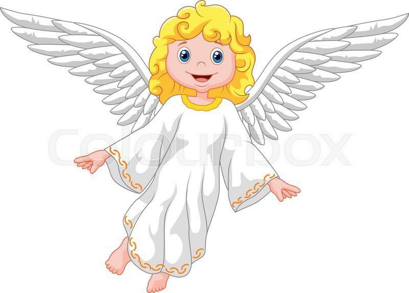 vector illustration of cute cartoon angel stock vector colourbox rh colourbox com cartoon baby angel images cartoon angel images to draw