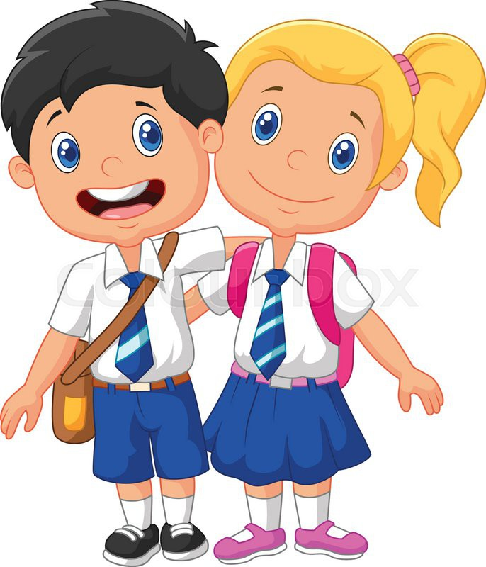 vector illustration of cartoon school children stock vector colourbox - Cartoon Image Of Children