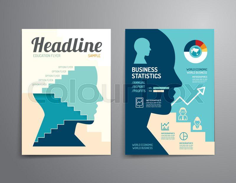 Vector brochure, flyer, magazine cover booklet poster design ...