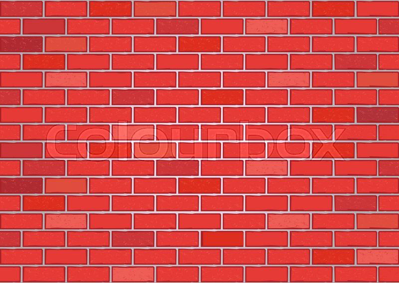 vector image of a red brick wall stock vector colourbox