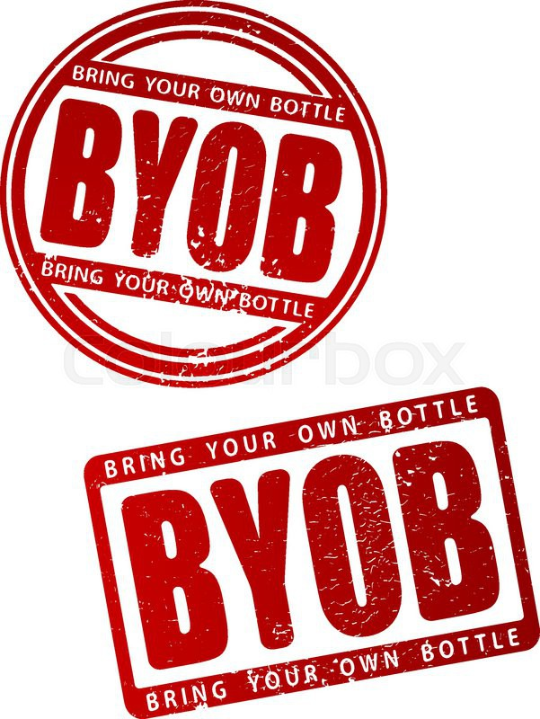 byob  bring your own bottle  rubber stamp stock vector paint clipart png paint clip art no background