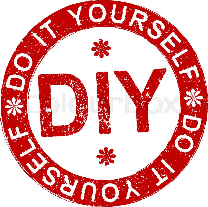 Diy do it yourself rubber stamp stock vector colourbox diy do it yourself rubber stamp vector solutioingenieria Images
