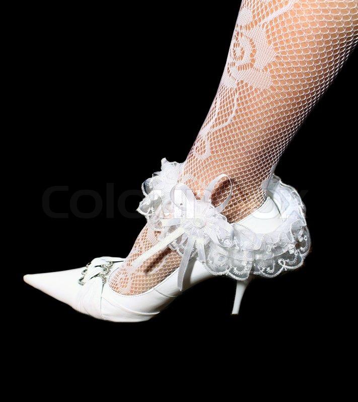 newest collection 4c0ad d9321 Hochzeit Strumpfband auf schwarzem ... | Stock Bild | Colourbox