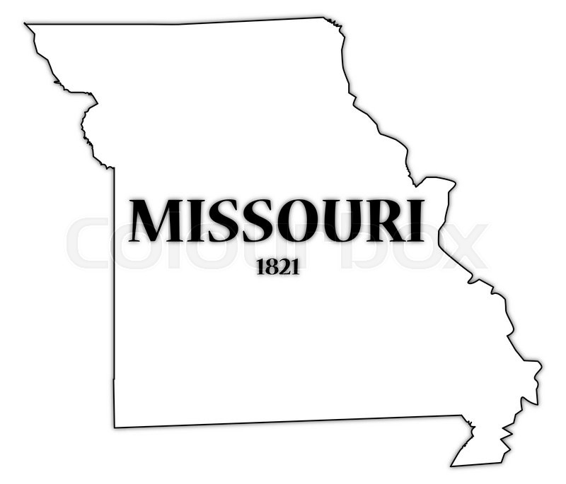 A Missouri State Outline With The Date