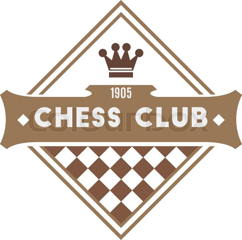 Chess club logo. Retro style | Stock Vector | Colourbox