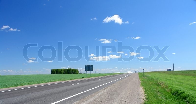 Road disappearing for horizon, stock photo