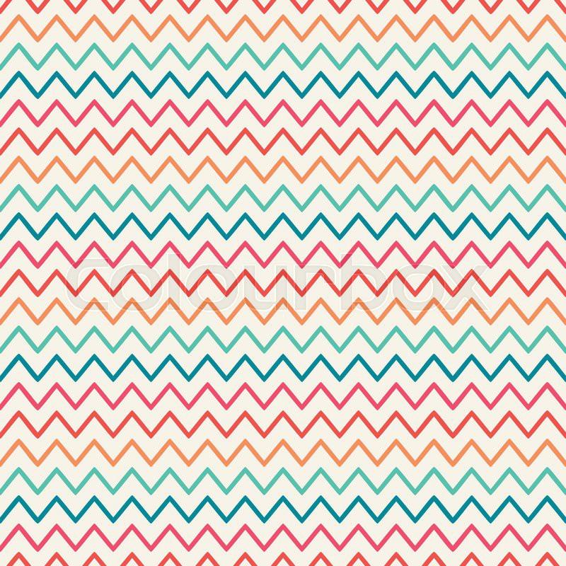 Stock vector of 'Vector retro chevron zigzag stripes geometric ...