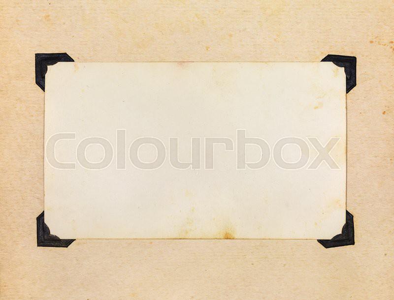 Photo Album Page Page of Vintage Photo Album