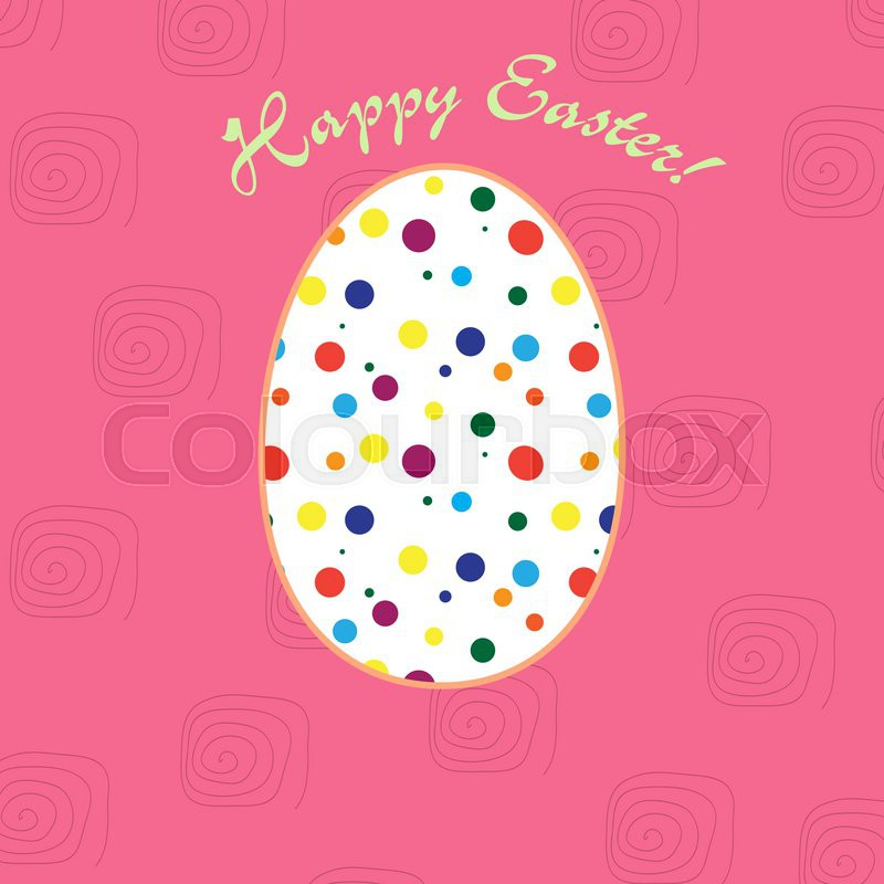 Greeting card for easter holidays traditional pisanka design greeting card for easter holidays traditional pisanka design vector m4hsunfo