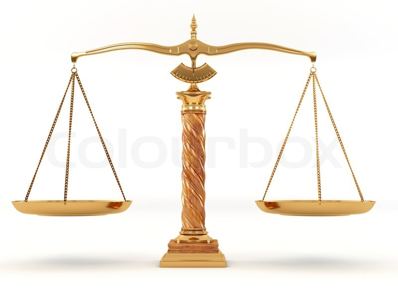 Symbol Of Justice Scale 3d Stock Photo Colourbox