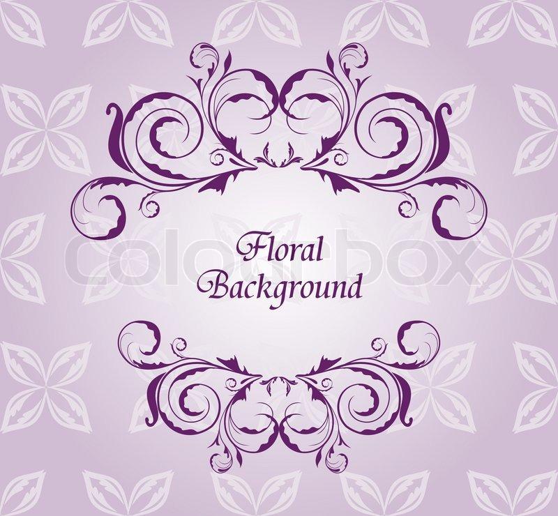 Abbildung Blumen Hintergrund Fur Vektorgrafik Colourbox