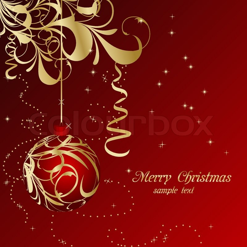 elegant christmas floral background with balls vector stock vector colourbox - Elegant Christmas