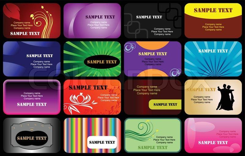 Various business cards templates set vector stock vector colourbox stock vector of various business cards templates set vector reheart Choice Image
