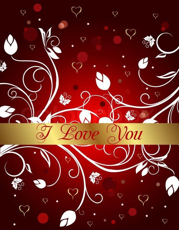 Außergewöhnlich Abbildung Gratulation Blumen Karte Zum Valentinstag   Vektor, Stock Vektor