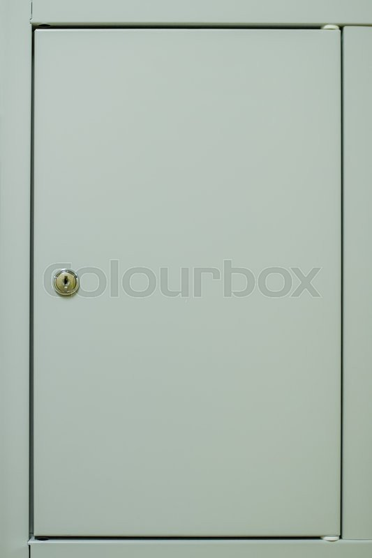 & Blank locker door background | Stock Photo | Colourbox