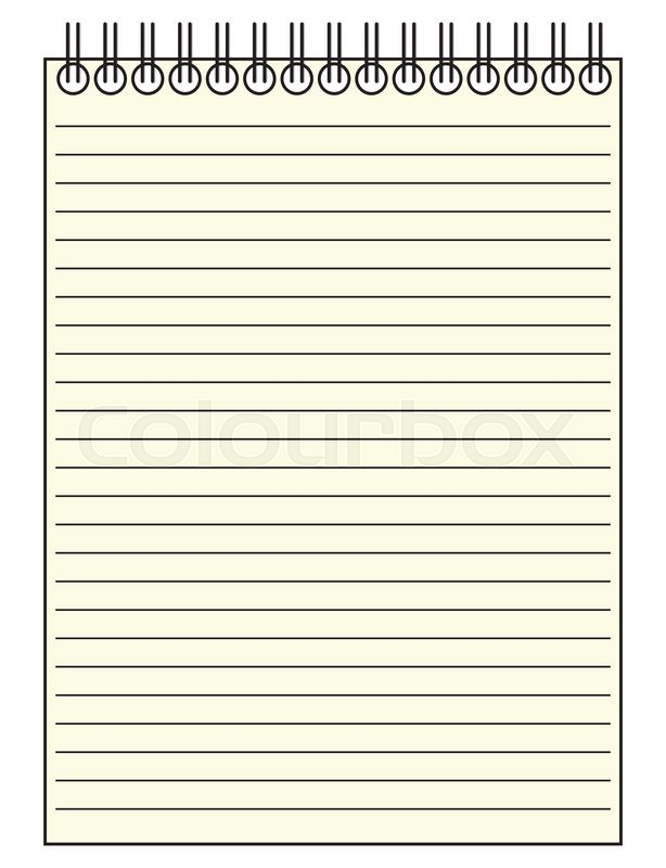 a reporter 39 s lined notepad template or background isolated on a white background stock vector. Black Bedroom Furniture Sets. Home Design Ideas