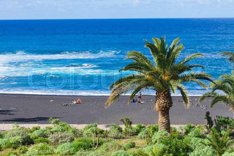 Playa jardin beach with black volcanic sand puerto de - Playa jardin puerto de la cruz tenerife ...