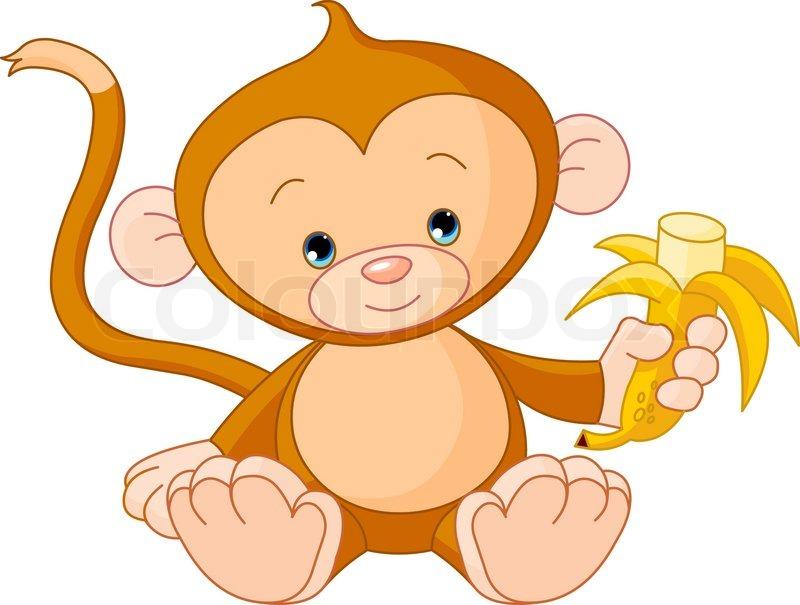 Cute cartoon monkey love - photo#20