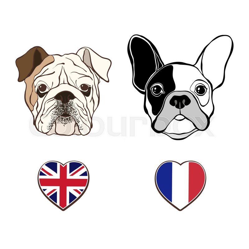 english bulldog face and french bulldog face with heart puppy dog clip art black and white puppy dog clipart black and white