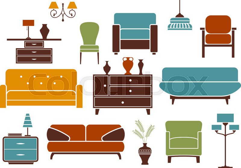 Furniture and home interior design elements including ...