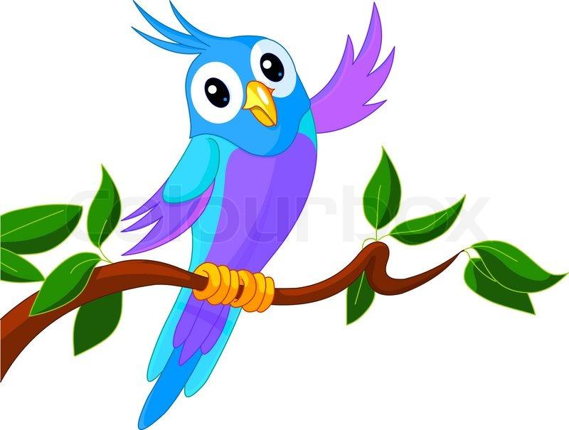 Stock vektor af 'vinke, papegøje, clipart'