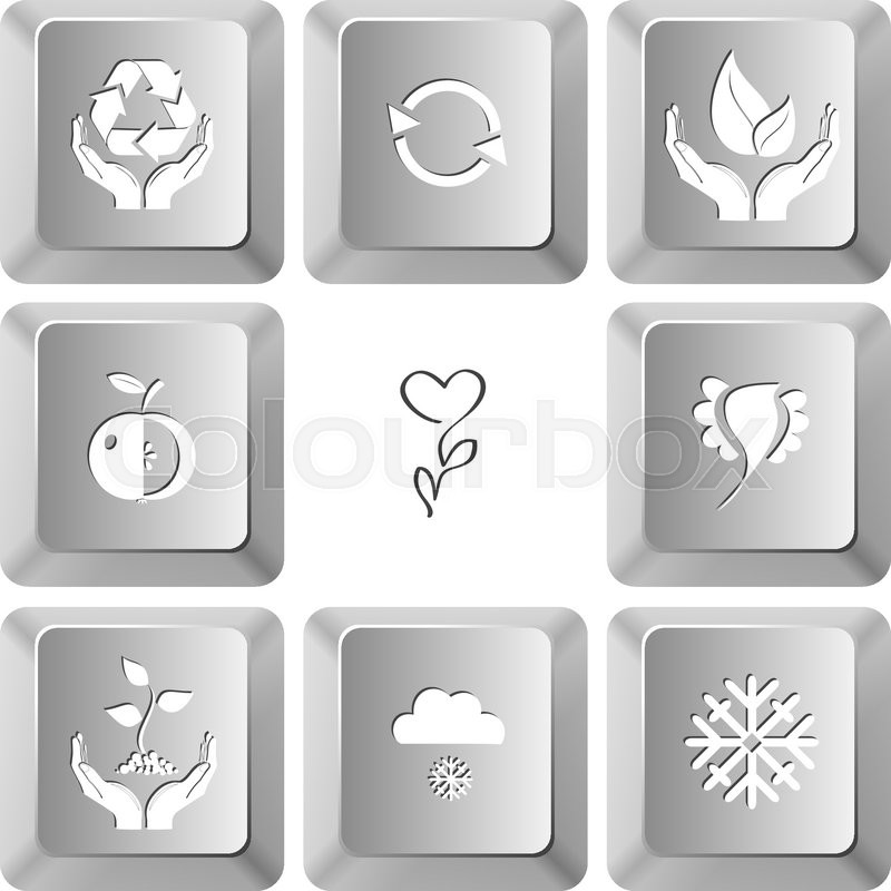 Protection Nature Recycle Symbol Life In Hands Apple Flower