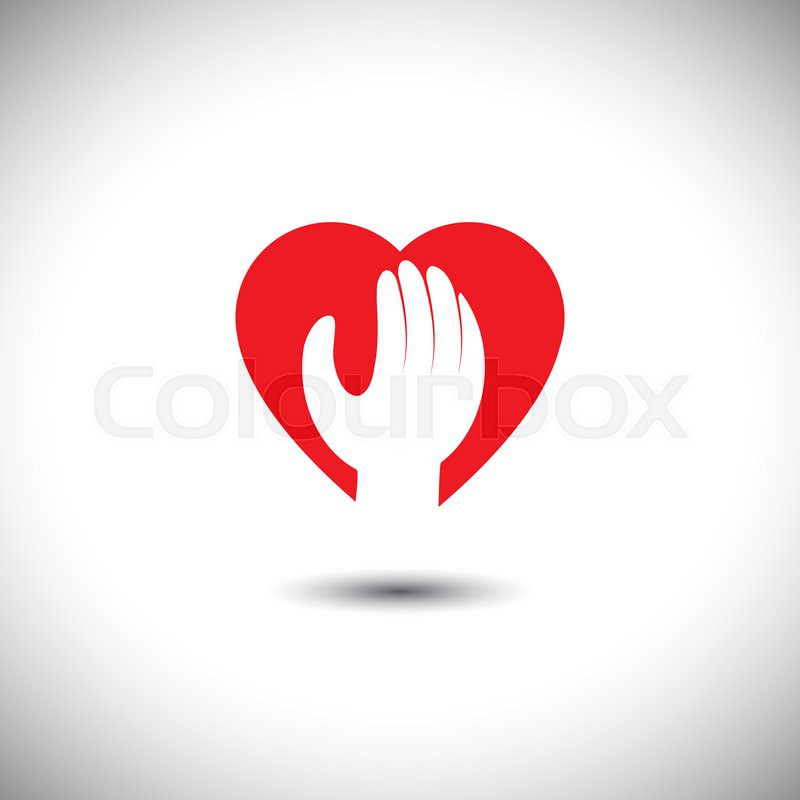 Hand And Heart Together Vector Icon For Trust Faith This Also