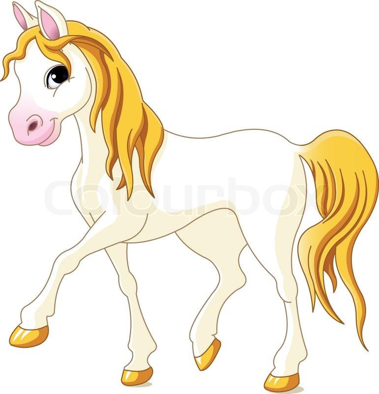 Hest, heste, tegning | stock vektor | Colourbox