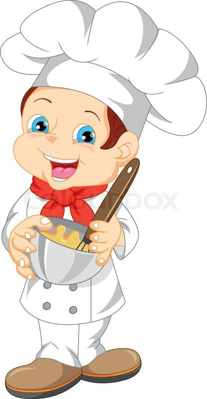 Illustration of cute boy chef cartoon stock vector colourbox - Kawaii kochen ...