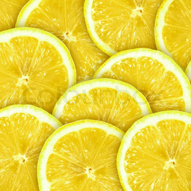 Abstract Background With Citrus Fruit Of Lemon Slices