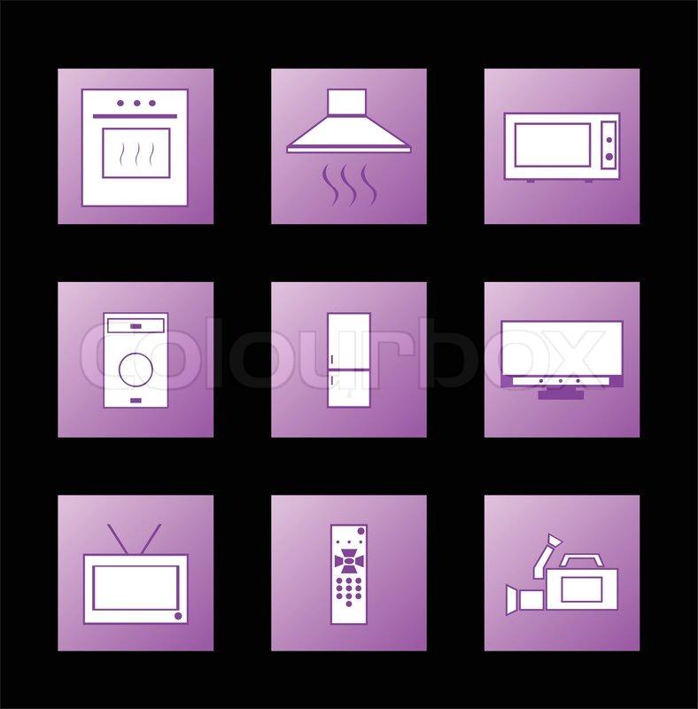 symbol ger te vektor vektorgrafik colourbox. Black Bedroom Furniture Sets. Home Design Ideas