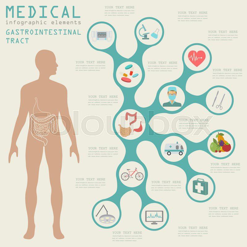 Medizin, durchfall, vektor | Vektorgrafik | Colourbox