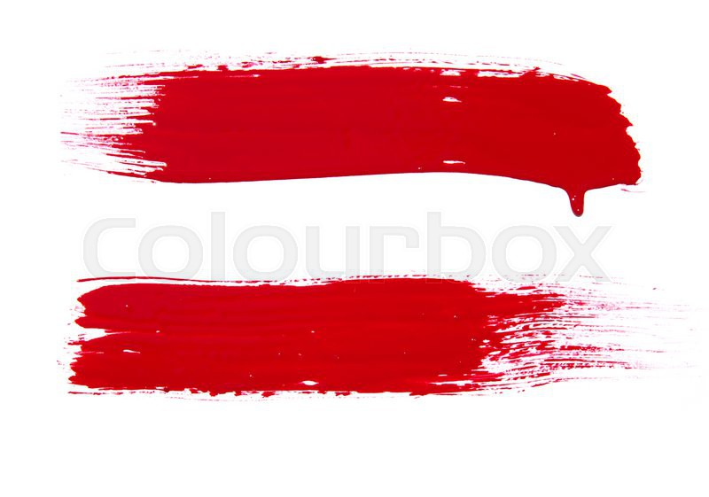 Paint brush texture isolated on white Stock Photo Colourbox