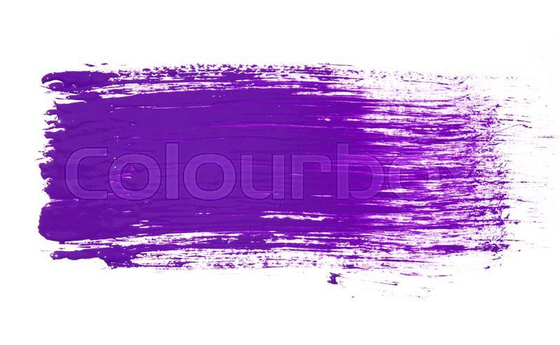Paint brush texture isolated on white, stock photo