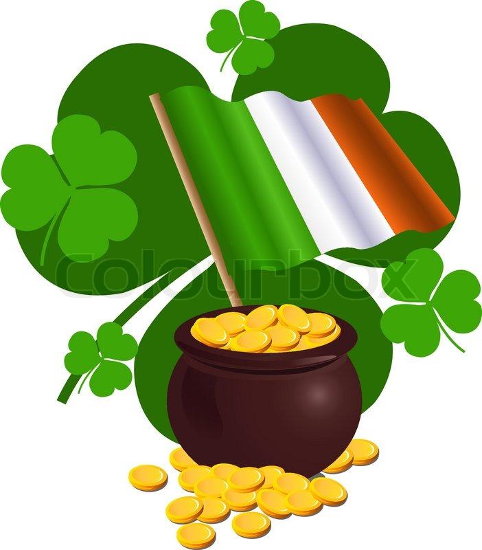 Flagge, clipart, irland | Vektorgrafik | Colourbox