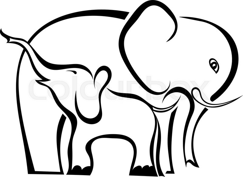 a pair of elephants mother and baby isolated on white background symbol of care love. Black Bedroom Furniture Sets. Home Design Ideas