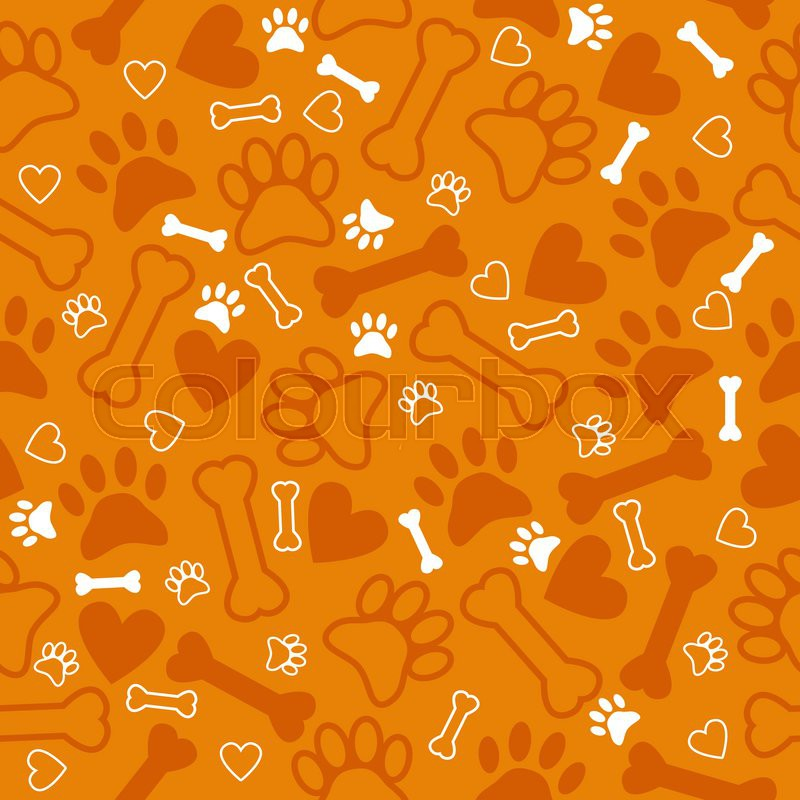 57d7d68712b1 Seamless pattern with dog paw print, ... | Stock vector | Colourbox