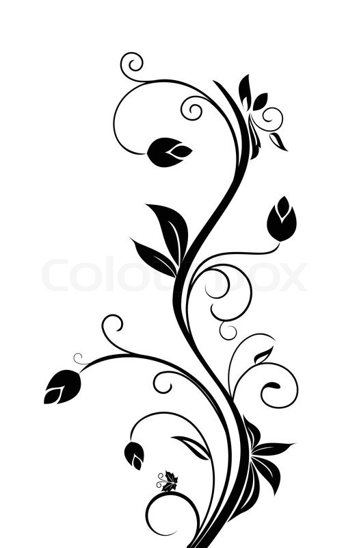 Floral Background For Design Holiday Card Vector