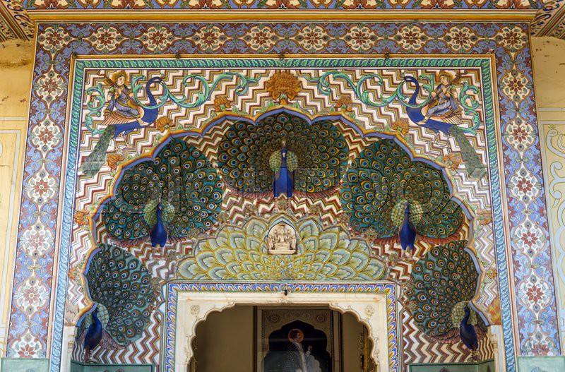 Peacock Gate At The Chandra Mahal, Jaipur City Palace In