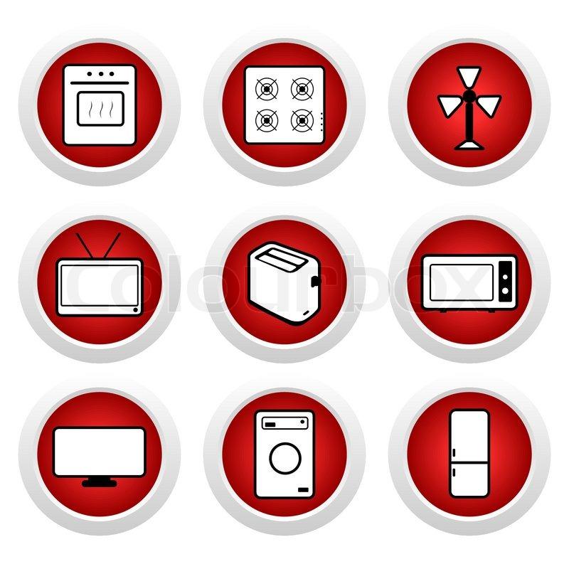 red buttons mit symbol 9 vektor vektorgrafik colourbox. Black Bedroom Furniture Sets. Home Design Ideas