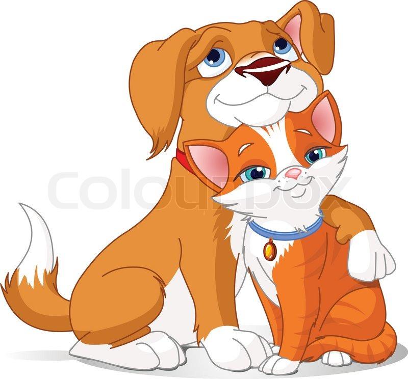 Stock vector of cartoon cute puppy