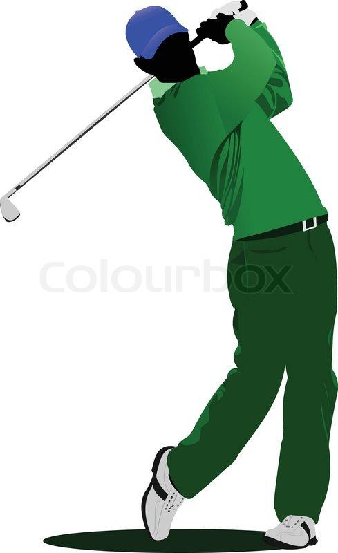 golf player stock vector colourbox rh colourbox com vector golfer vector golfer