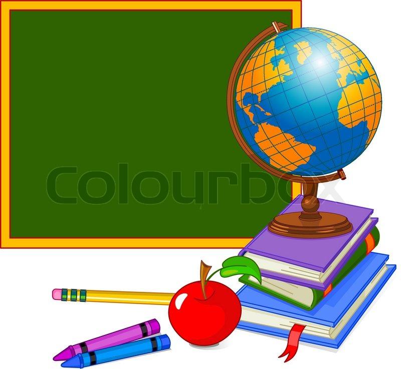 Bücherei clipart  Zurück zu Schule Design | Vektorgrafik | Colourbox