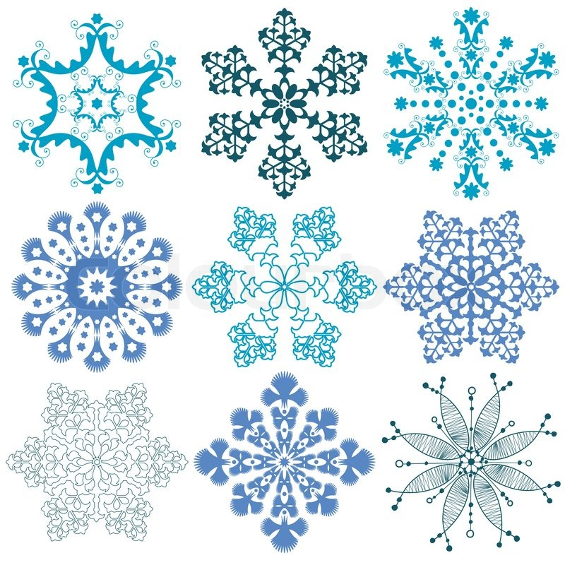 tattoo snowflake snow stock vector colourbox